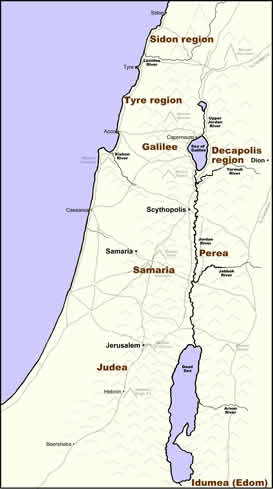 Regions of Palestine in the First-Century